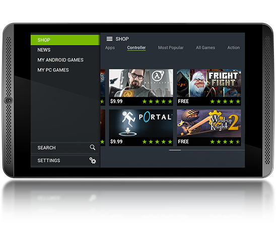 NVIDIA SHIELD Hub on the SHIELD Tablet